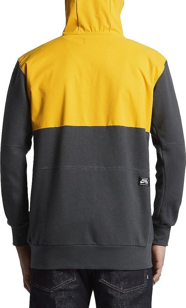 Nike SB Everett Hoodie Jacket Tour Yellow Anthracite