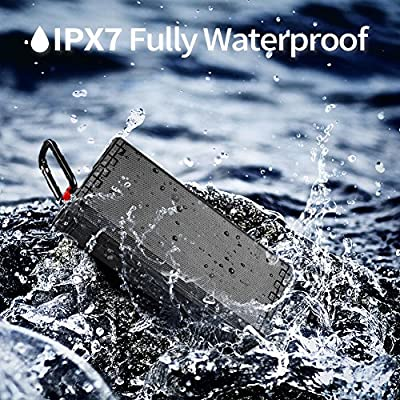 Bluetooth Speaker Portable Waterproof Outdoor IPX7 20W Hcman Wireless Speakers Enhanced Bass Sound, 24-Hour Playtime, Built in Mic, TF Card, Auto Off, Durable Design for Party, Travel
