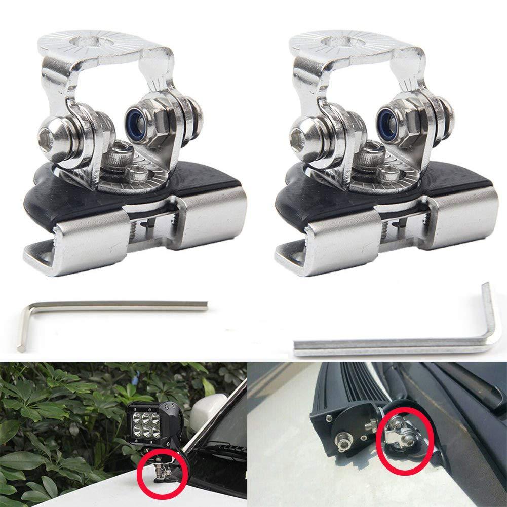 Staffa per luce da lavoro a LED per montaggio a parabrezza inferiore A-Pillar per Wrangler Interruttore A-Pillar