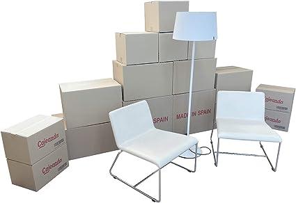 Cajeando | Pack Mudanza BÁSICO (10 Cajas + Precinto, Etiquetas y ...