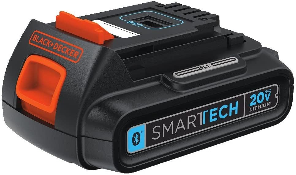 BLACK+DECKER SMARTECH Bluetooth 20V MAX Lithium Battery 1.5 AH (LBXR20BT)