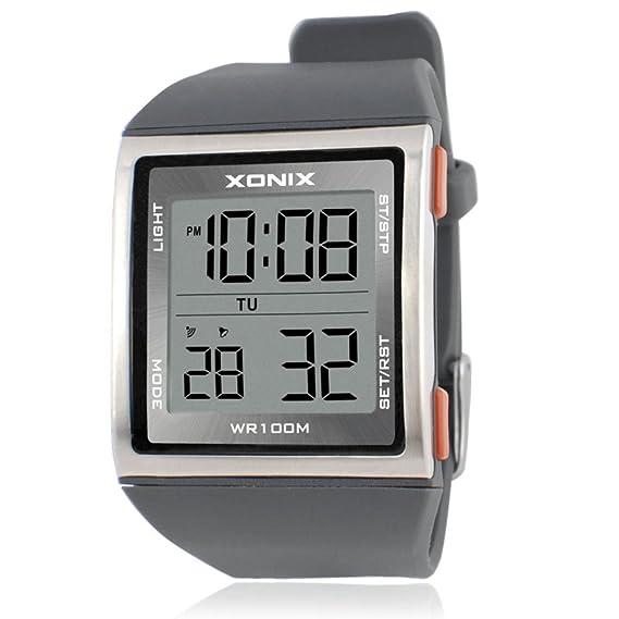 Hombres de relojes/[] de moda, Business, multifunción, LED, [resistente al agua], natación, deportes al aire libre electrónico watch-b: Amazon.es: Relojes