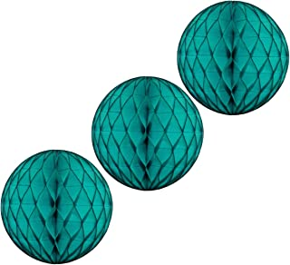 product image for 3-pack 8 Inch Honeycomb Tissue Balls (Teal Green)