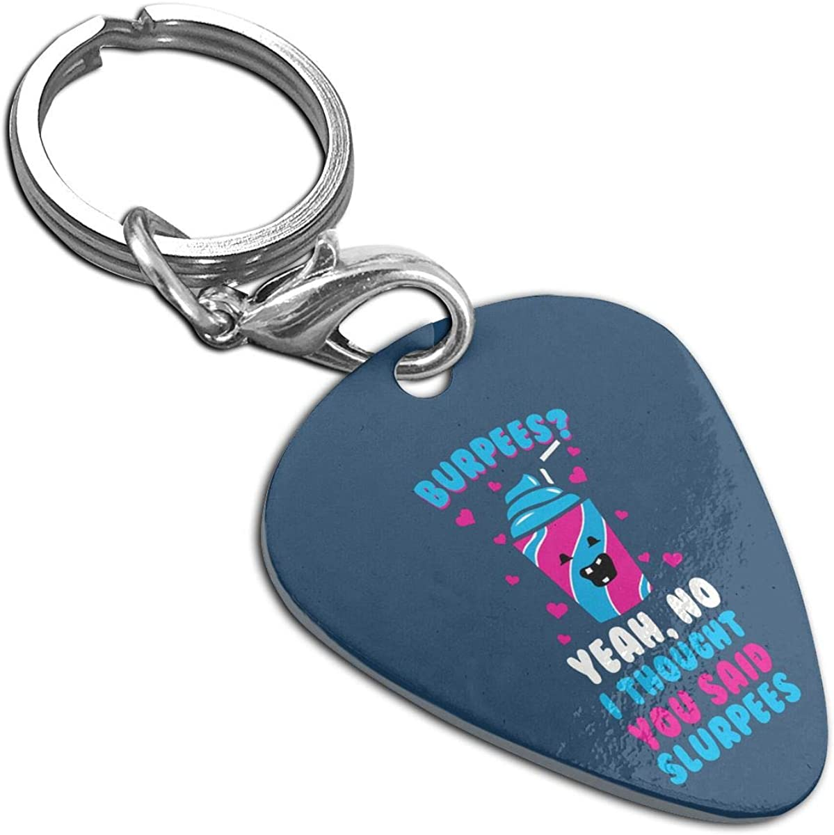 Burpees I Thought Guitar Pick Necklace Pendant Pet Card Keychain