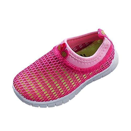 Malloom bebé Niño Niña Zapatos Caramelo Color Tela Malla Casual Sport ventilar Zapatillas Sneakers (22