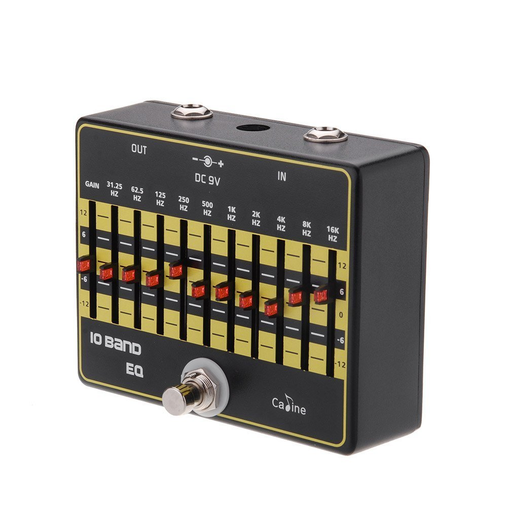 Caline CP-24 10-Band EQ Equalizer True Bypass Guitar Effect Pedal with Aluminium Alloy by Caline