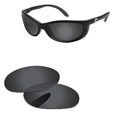 57f83e598f PapaViva Lenses Replacement for Costa Del Mar Fathom Black Grey - Polarized