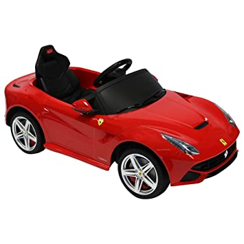 rastar ferrari f12 berlinetta 6v licensed childrens kids ride on electric remote toy car red