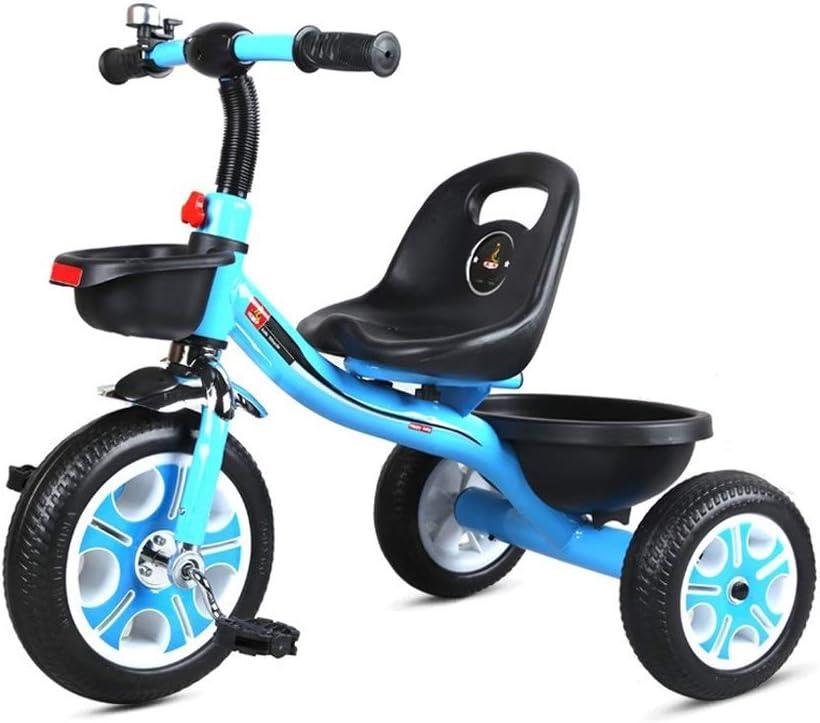 Triciclos Campana Exterior Retro Triciclo Infantil Adecuado For Todo Terreno Neumático De La Bici Libre De La Cesta De La Compra Inflable Y 1-5-8 Niños De Años De Edad Que Viajaban En Cuatro Colores S