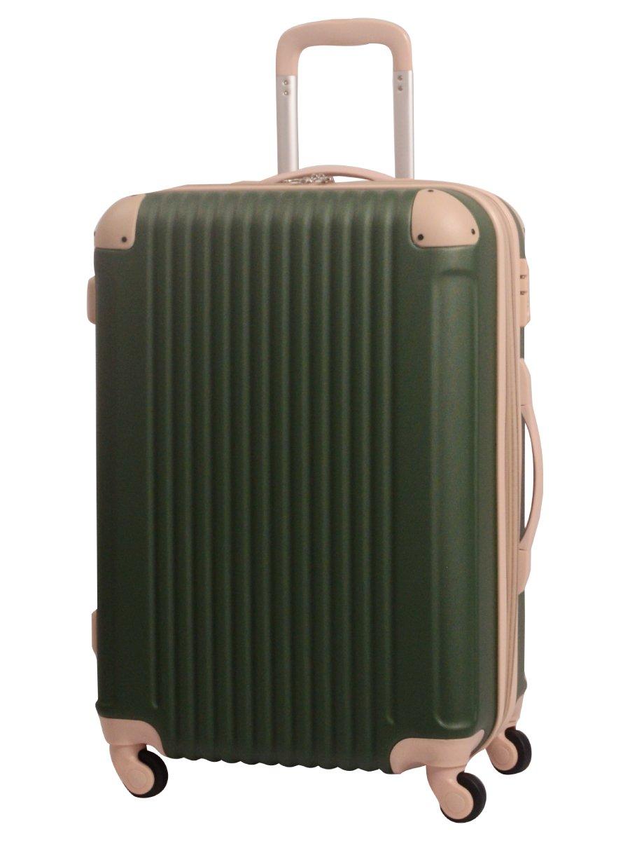 [グリフィンランド]_Griffinland TSAロック搭載 スーツケース キャリーバッグ かわいい エンボス加工 超軽量 newFK1212-1 ファスナー開閉式 S型国内国際線機内持込可 15色3サイズ B015ILNI0E M型|ヨモギ/ベージュ ヨモギ/ベージュ M型