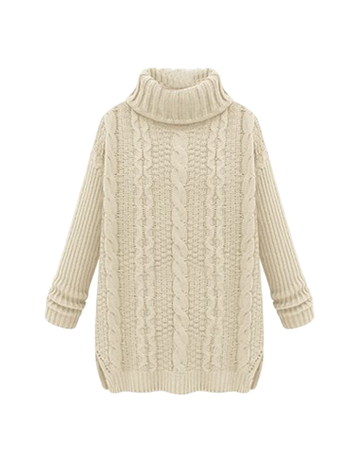 Legou Women Twist Turtleneck Thick Long Sweater LGMUDR0804-4