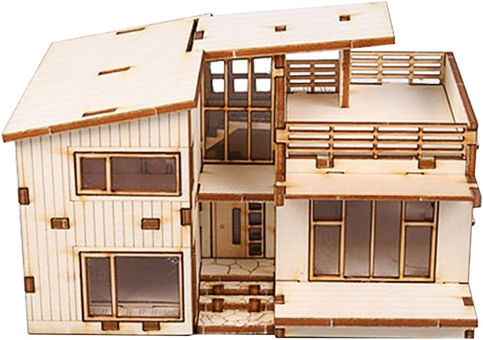 Amazon Com Youngmodeler Desktop Wooden Assembly Model Kits Modern House Toys Games
