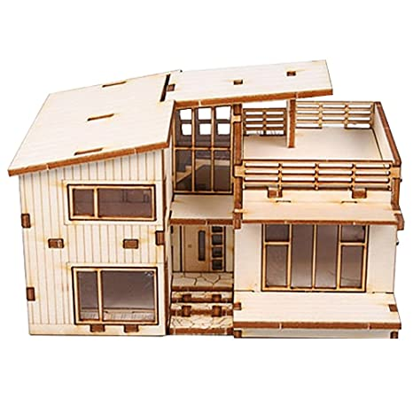 Attractive Desktop Wooden Model Kit Modern House