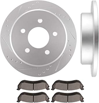 Front Brake Rotors /& Ceramic Pads for FORD CROWN VICTORIA TOWN CAR GRAND MARQUIS