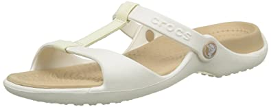 a239d51530cb Crocs 11216 Cleo III - Oyster Gold (White) Womens Sandals 3 UK