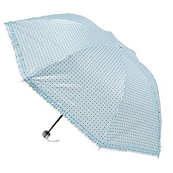 Sharplace Paragua Plegable Anti-Viento con 8 Costillas Reforzadas - Azul