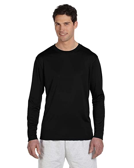 75ad65362 Champion Double Dry Long Sleeve Tee_Stone Grey at Amazon Men's ...