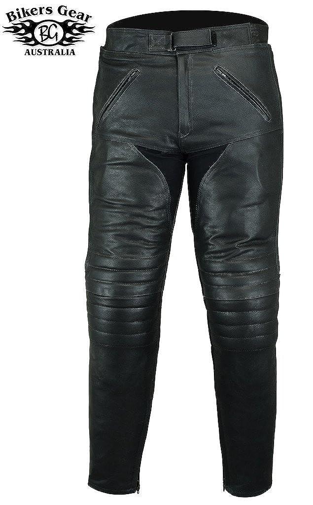 Australian Bikers Gear Frecce di Pantaloni di Pelle/ /Touring con Protezioni CE