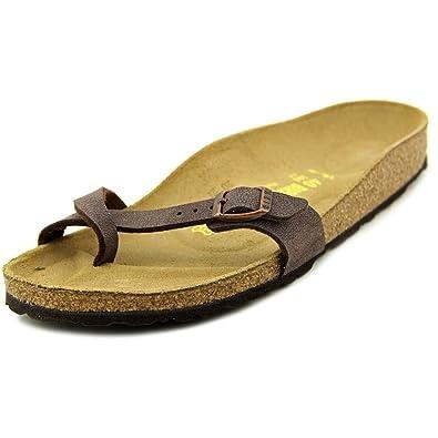 Birkenstock Piazza Women US 10 NS Brown Slides Sandal