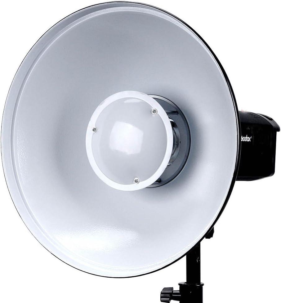 Godox 16.5 42cm Beauty Dish Reflector with Honeycomb Grid for Bowens Mount Studio Flash Strobe Monolight Such as Godox Witstro AD400PRO AD600PRO AD600B AD600BM Interior: White Bounce