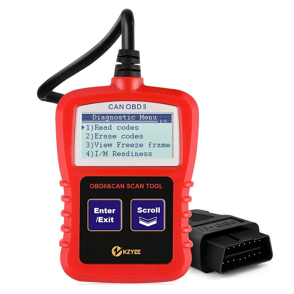Kzyee KC601 Heavy Duty Scan Tool, HOBD Truck Diagnostic Code Reader/Eraser Live Data J1587/J1708 J1939 Class 8 Diesel Trucks