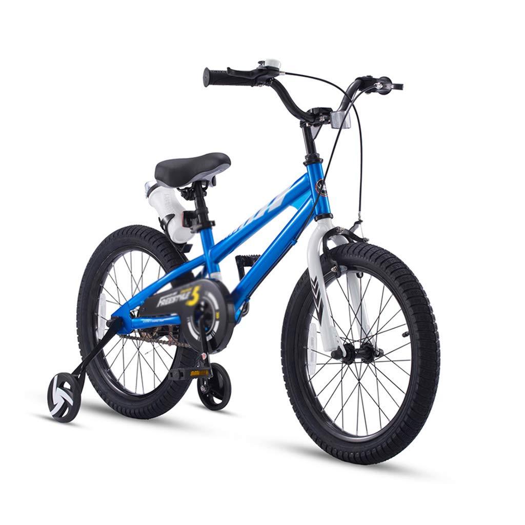 Bici per bambini Bicicletta per Bambini Bicicletta allargata Staccabile Pneumatico stabilizzatore 12 14 16 Pollici Ragazza Passeggino Bicicletta (Colore   blu, Dimensione   14inch)