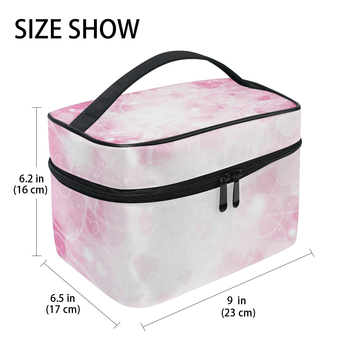 U LIFE Valentines Day Heart Stars Love You Summer Spring Wedding Travel Cosmetic Makeup Toiletry Storage Bags Boxes Cases Organizers