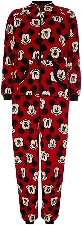 Primark - Pijama de una pieza - para mujer Rojo rosso S ...