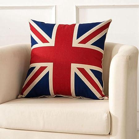 SKL manta fundas de almohada 2 unidades olímpico de Londres cuadrado bandera de Reino Unido Bandera
