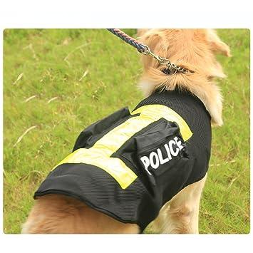 Glantop Policía Disfraz de mascota perro chaleco arnés de perro ...