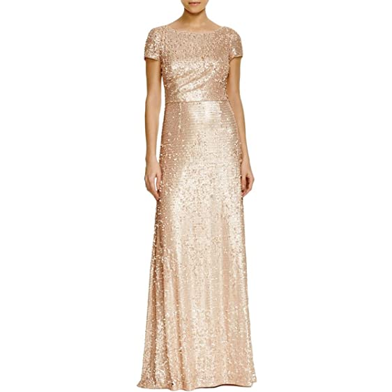 Adrianna Papell Womens Paillettes Full Length Formal Dress at Amazon ...