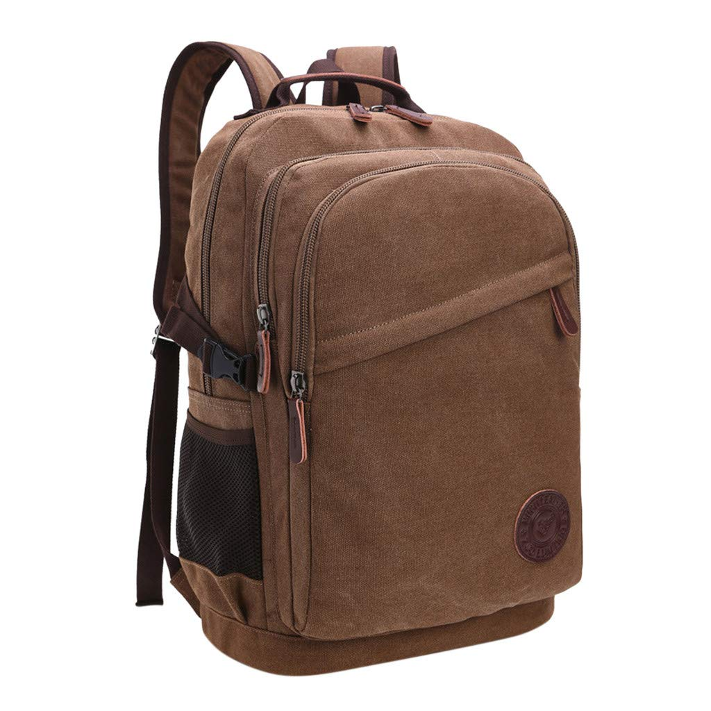 Men and Women Large Capacity Fashion Casual Canvas Backpack Outdoor Luggage Bag Backpack for Women Men Waterproof
