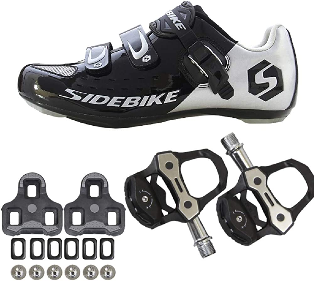Road Bike Shoes Breathable Bicycle Cycling Shoes for SPD-SL//Look Cleat Shoes