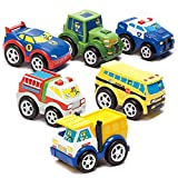 Kid Galaxy PBS Kids Fire & Dump Trucks, Police & Race Car, Multicolor