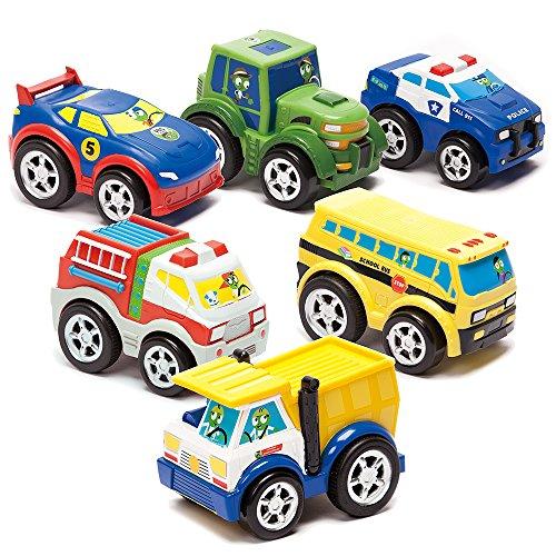 Kid Galaxy PBS Kids Fire & Dump Trucks, Police & Race Car, Multicolor (Super Race Soft Car)