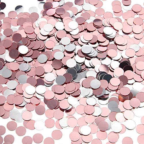 TecUnite 3.5 oz Confetti Dots Glitter Confetti Circles 1/4 Inch Metallic Dot Confetti for Birthday Wedding Holiday Party Decoration Supplies