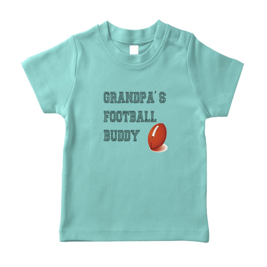 345d81c5fda4 Amazon.com  Grandpa s Football Buddy Style 1 Football Cotton Short Sleeve  Crewneck Unisex Toddler T-Shirt Jersey - Chill