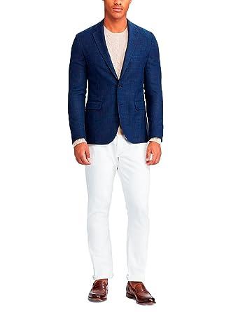 Ralph Lauren Blazer Bleu Marine en Lin pour Homme  Amazon.fr  Vêtements et  accessoires f02403200e2
