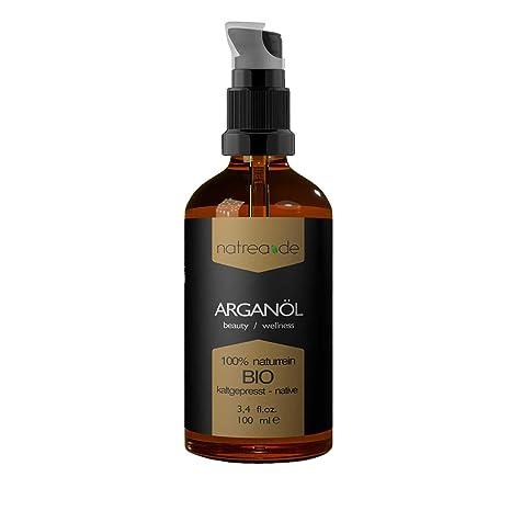 Natrea Aceite de argán, prensado en frío, para la cara y el pelo,
