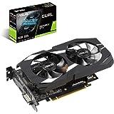 Asus DUAL-GTX1660TI-O6G GeForce GTX 1660 Ti 6 GB GDDR6 - Tarjeta gráfica (GeForce GTX 1660 Ti, 6 GB, GDDR6, 192 bit, 7680 x 4320 Pixeles, PCI Express 3.0)