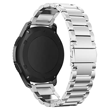 XIHAMA Correa Compatible con Samsung Gear S3 Frontier / S3 Classic Smart Watch con Cierre Magnético, Acero Inoxidable Correa, Metal Recambio Bracelet ...