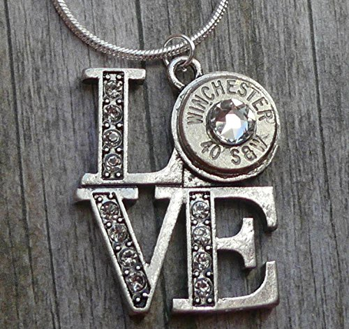 - Winchester 40 Caliber Bullet Love Necklace