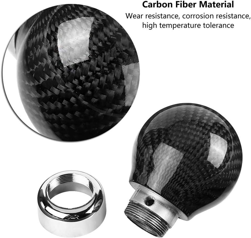 T/ête de pommeau de levier de vitesse de voiture EVGATSAUTO pommeau de levier de vitesse manuel universel en Fiber de carbone noir levier de vitesse carbonis/é