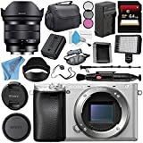 Sony Alpha a6300 Mirrorless Digital Camera (Silver) ILCE-6300/S + Sony E 10-18mm f/4 OSS Lens SEL1018 + NP-FW50 Replacement Lithium Ion Battery + External Rapid Charger Bundle