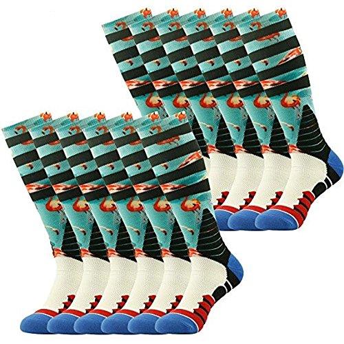 J'colour SOCKSHOSIERY メンズ B073P5QCJS 6 Pairs Blue Flamingo 6 Pairs Blue Flamingo