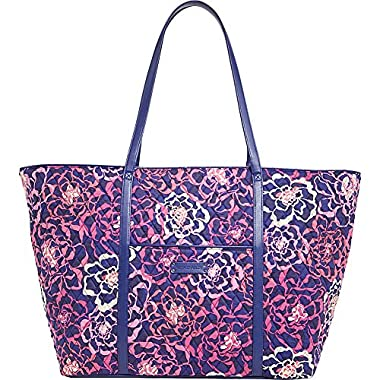 Vera Bradley Luggage Women's Trimmed Vera Traveler Katalina Pink/Navy Travel Tote