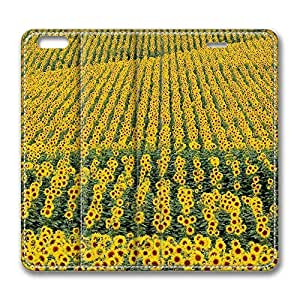Brian114 6 Case, iPhone 6 Case - Best Protective Scratch-Proof Leather Cases for iPhone 6 Epic Sunflower Field Customized Design Folio Flip Leather Case Cover for iPhone 6 4.7 Inch