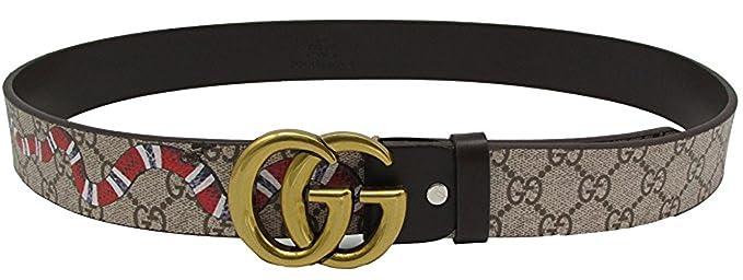 868b5531e2ff6 Cintura moda in pelle G fibbia Cintura business casual unisex (nero ...