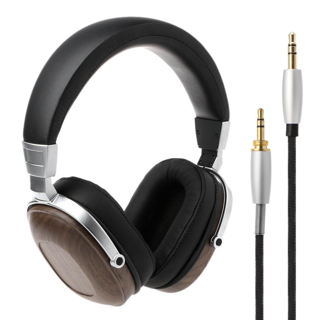 Efferre Field BOSSHIFI B8 Stereo Wooden Over-Ear Black Mahogany Earphone Headphone Headset