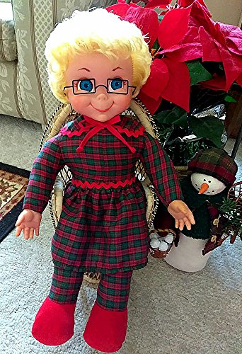 Christmas Mrs. Beasley Doll With Glasses! Voice Restored! Popular Mrs. Beasley Drivers License & 5 Charming MB Laminated Frig. Magnets Also Included!